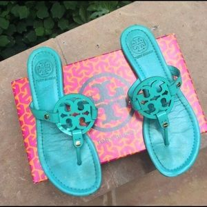 Authentic Tory Burch turquoise sandals